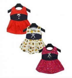 BWS |Pack Of 3 Multi-Color Printed Cotton Frock For Girls !