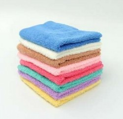 BWS |Pack of 6 Soft Hand Towels 12 x 12 inch Mix Colors Cotton Towel !