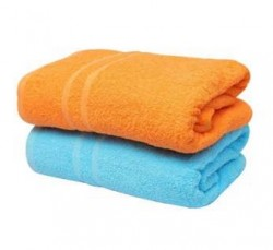BWS |Pack of 2 - High Quality Cotton Bath Towel - Multicolour !